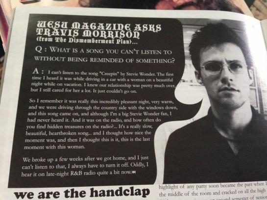I have interviewed Travis Morrison before.
